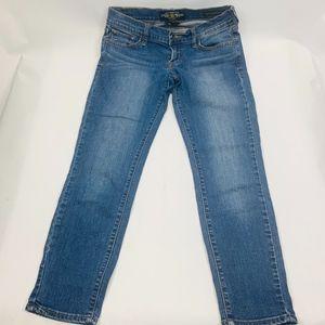 Lucky Brand Womens Zoe Jeans 4/27 Straight Crop